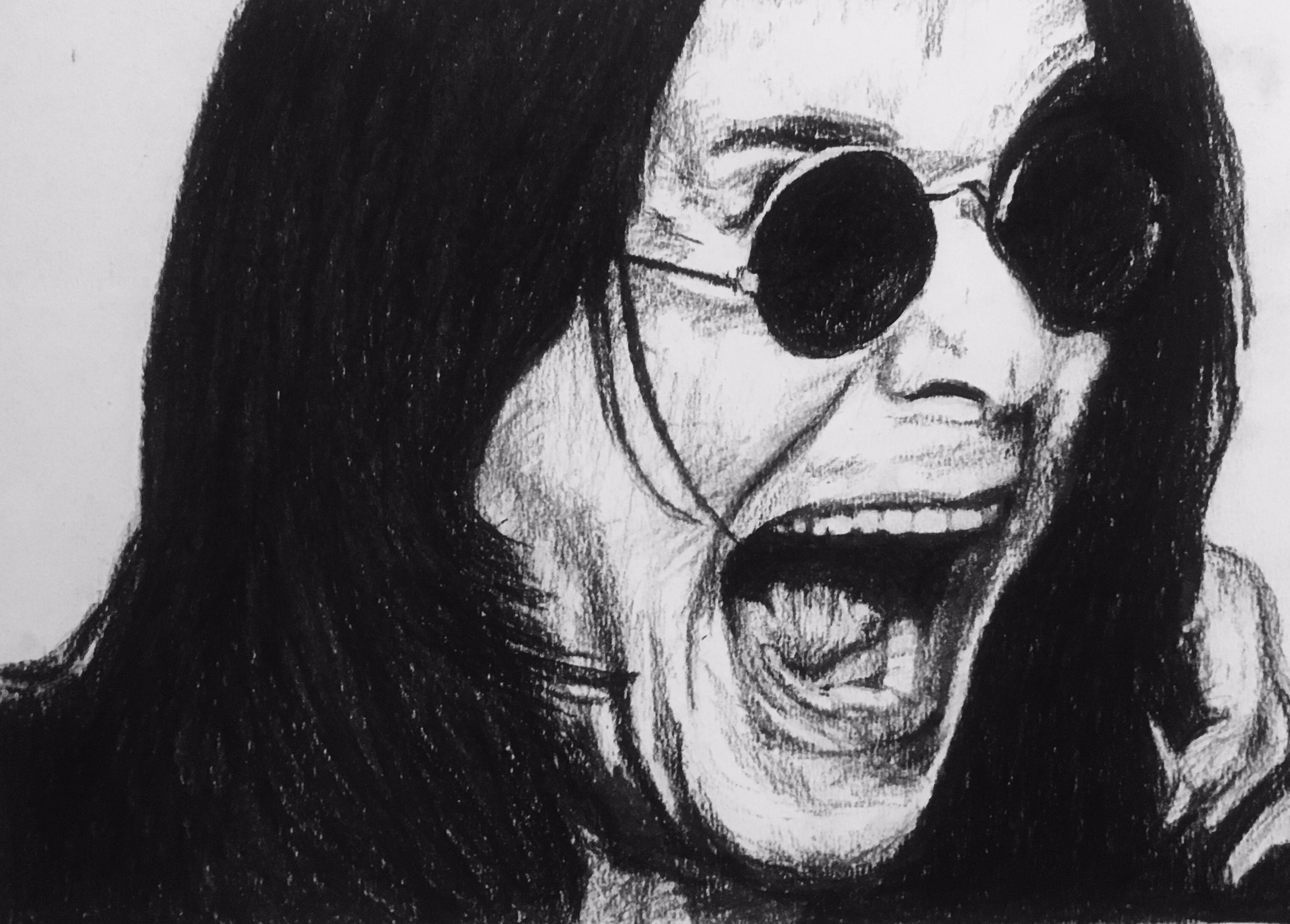 charcoal art portrait - Ozzy Os - kirkandrewsart | ello
