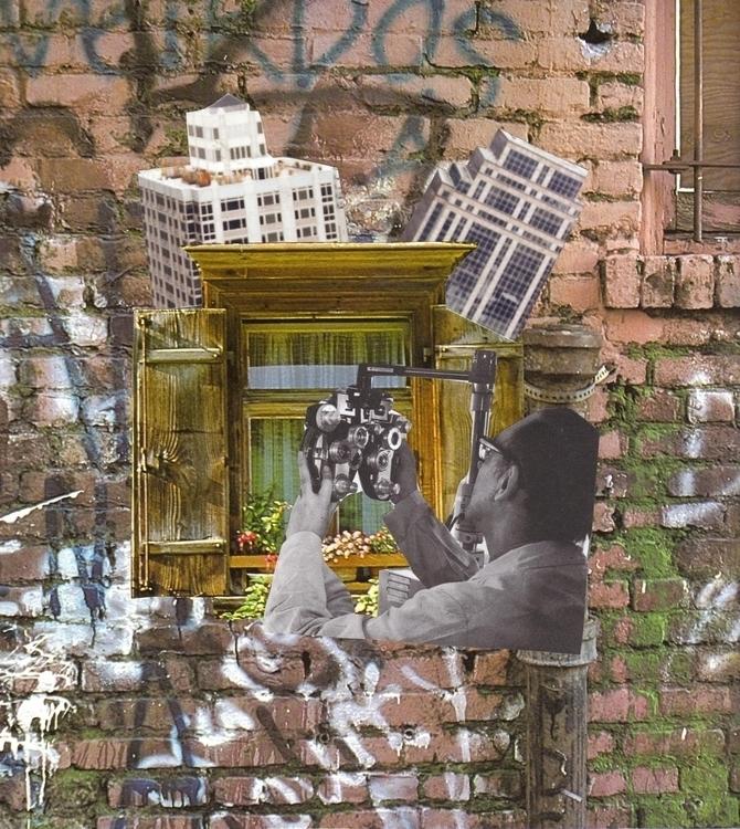 collage handmade analog - lacaradenadie   ello