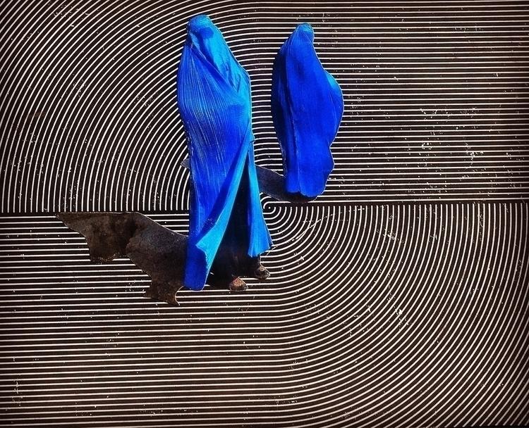 Figures Blue collage Bonnie Cur - arcanememory | ello
