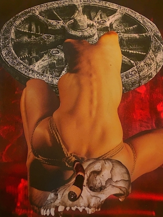 Bound Wheel collage Bonnie Curr - arcanememory | ello