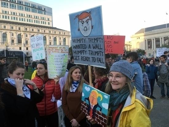 Ban, Wall! rally San Francisco - silentjames | ello