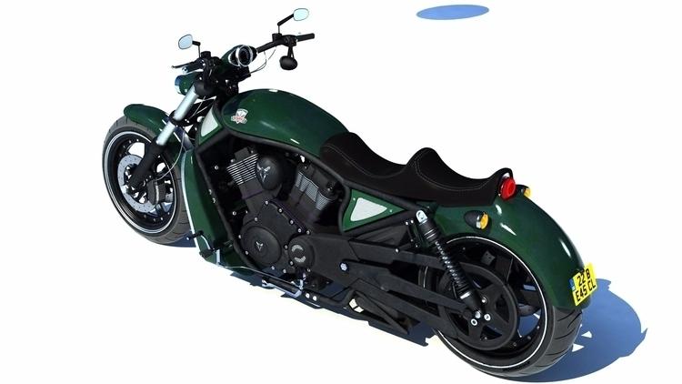 Custom Harley VROD 3D 3dsMax vr - pcourey | ello