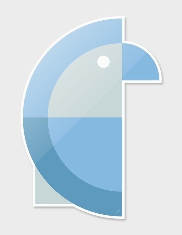 Quadrant Blue Parakeet Animals  - carterson | ello