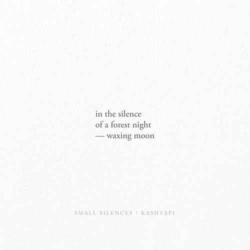 silence / forest night — waxing - kashyapi | ello