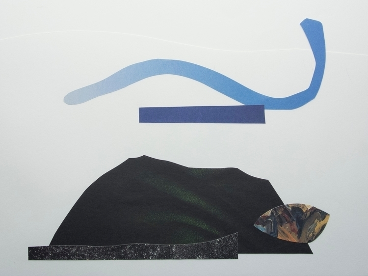 Sky, Sea ,Cloak, Collage art ab - wrjenkinson | ello