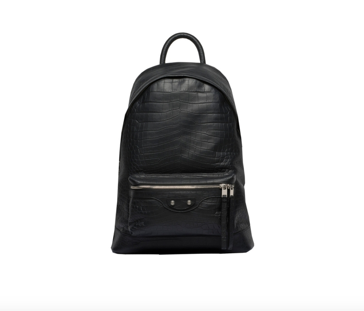 BALENCIAGA Croc Effect Backpack - 2beornot2be | ello