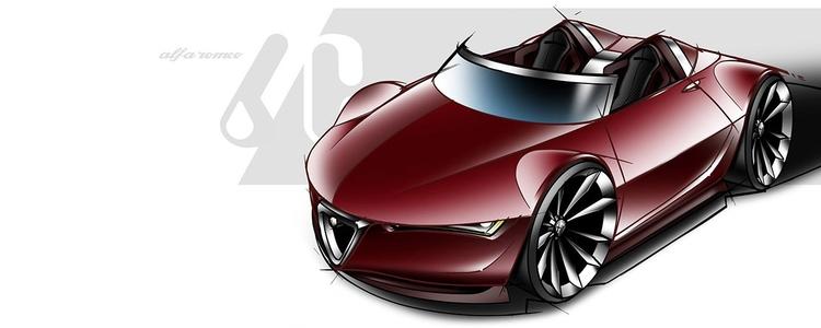 Alfa Romeo 6C roadster concept  - jamesowendesign   ello