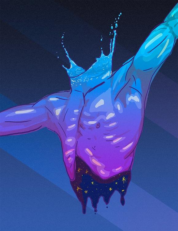 digital illustration torso star - kardozin | ello