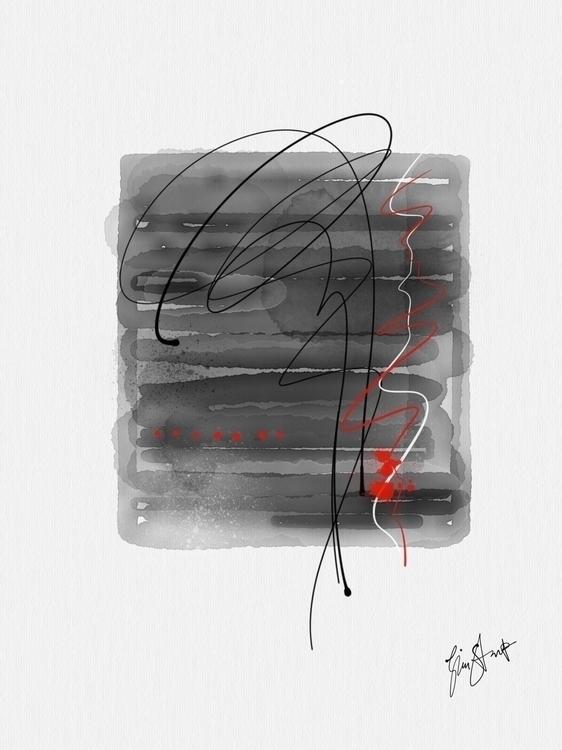 abstract watercolors red - ginastartup | ello