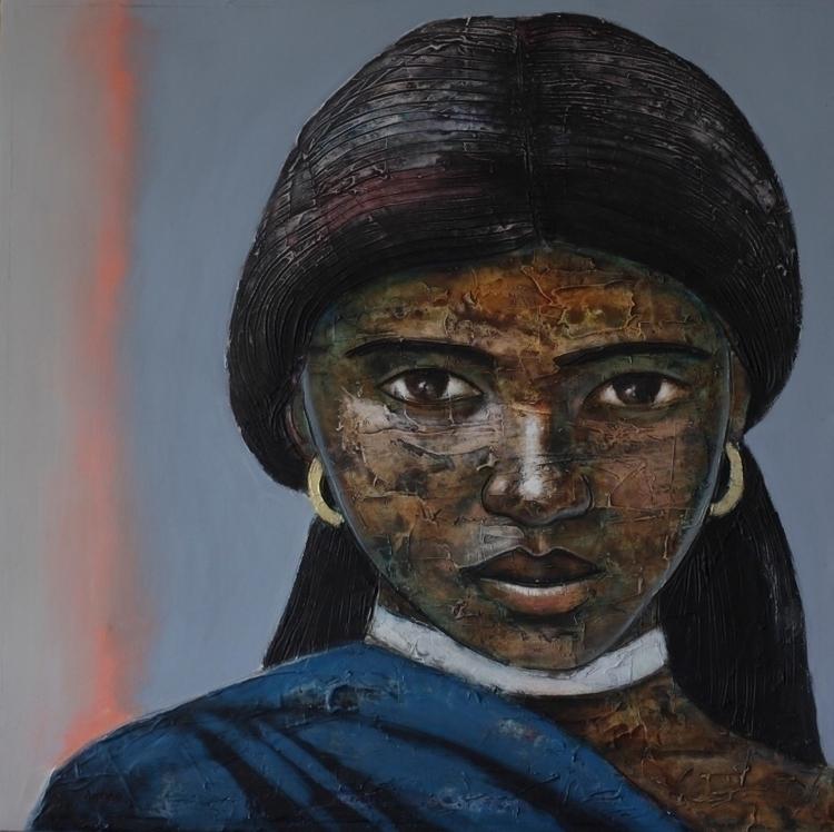 Segun Aiyesan Oil canvas - blackartmatters | ello