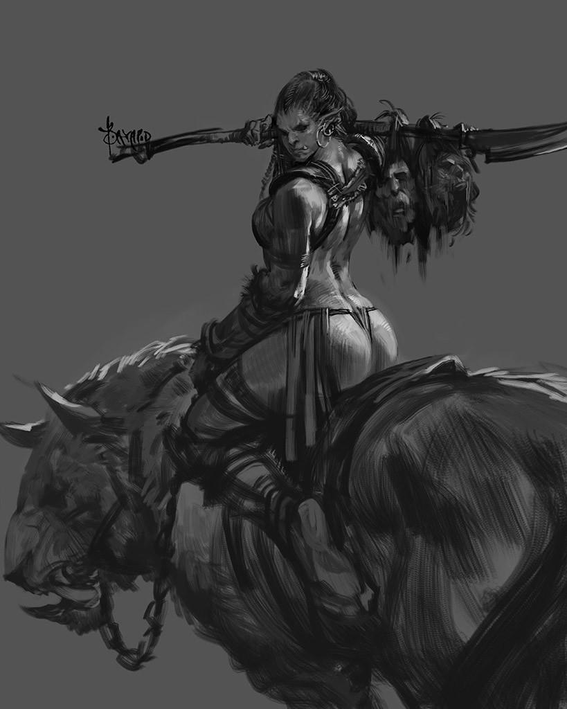 die, fight! Orc series Bayard W - jamesgoblin | ello