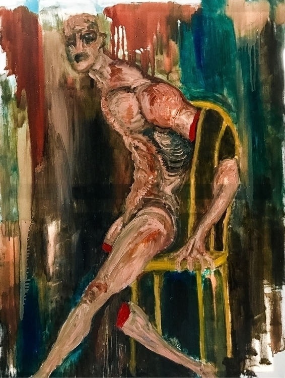 Quick messy, oil canvas piece.  - sparrowfinn | ello
