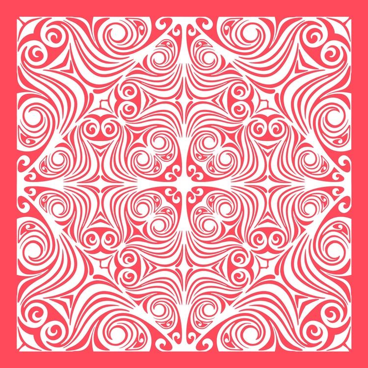 Nº 22. tile pink white art abst - csilverman | ello