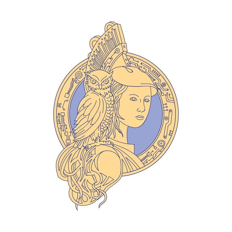 Shoulder Circuit Circle - Athena - patrimonio | ello