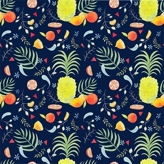 Pineapple & Citrus - illustration - marylore | ello