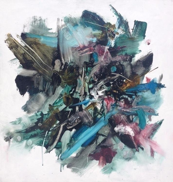 oil board - abstract, art, painting - laurelbee | ello