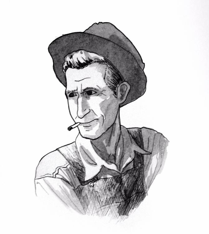 Portrait 14 - art, ink, sketch, sketchbook - todrawtoday | ello