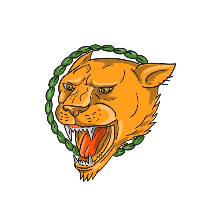 Leaves - Lioness, Growling, Ring - patrimonio | ello