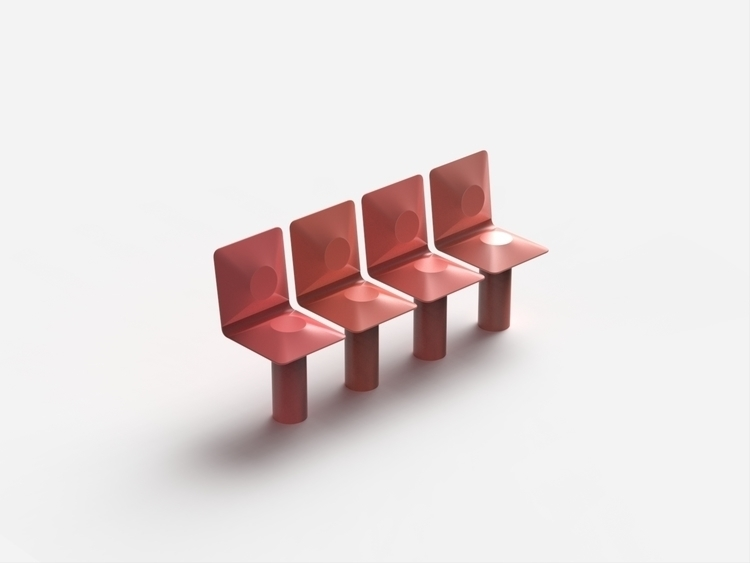 line - chair, design, 3d, render - chengtaoyi | ello