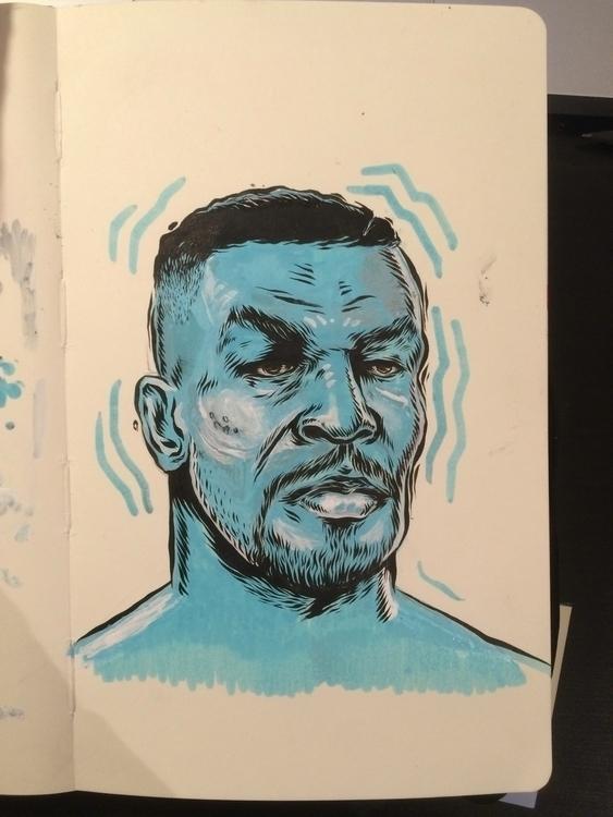 Iron Mike Sketch - illustration - dudeitsallama | ello