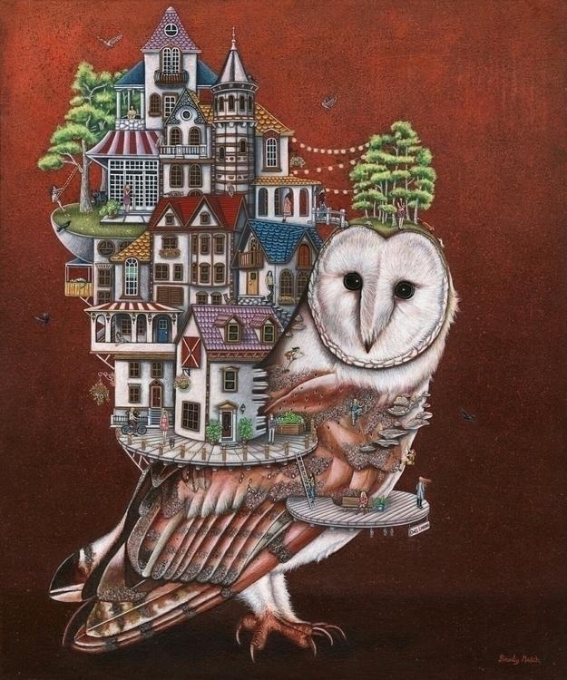 Title: Owls Landing. Medium: Mi - brandymasch | ello