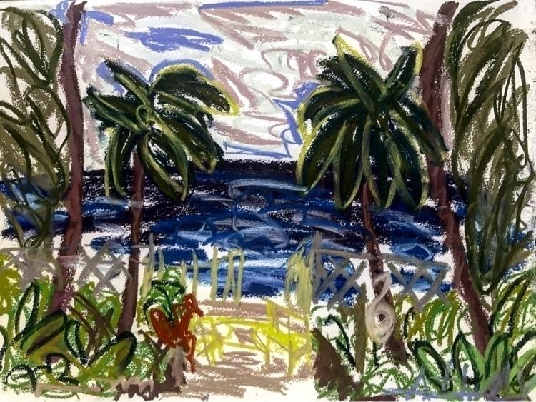 exit beach Barbados! paint past - rostislavromanov   ello