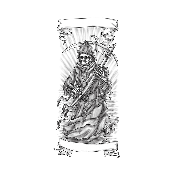 Ribbon - Grim, Reaper, Scythe, Tattoo - patrimonio | ello