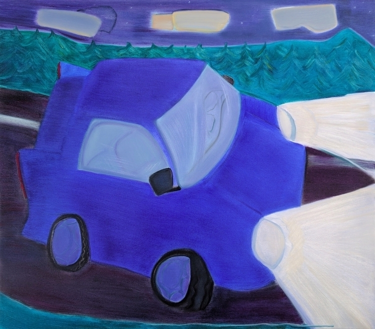 Night Drive oil/canvas, 50x44 - art - markbarry | ello