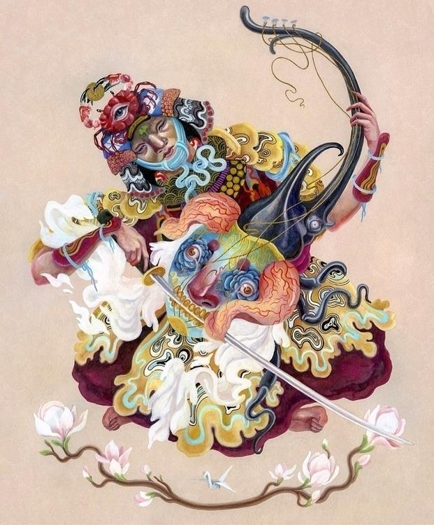 Watercolor gouache painting - art - kitmizeresart | ello