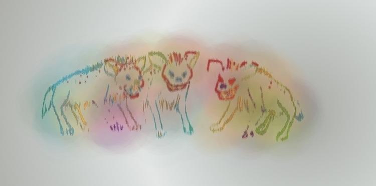Hyenas - digital, hyena, art, javacript - jsbeaulieu | ello