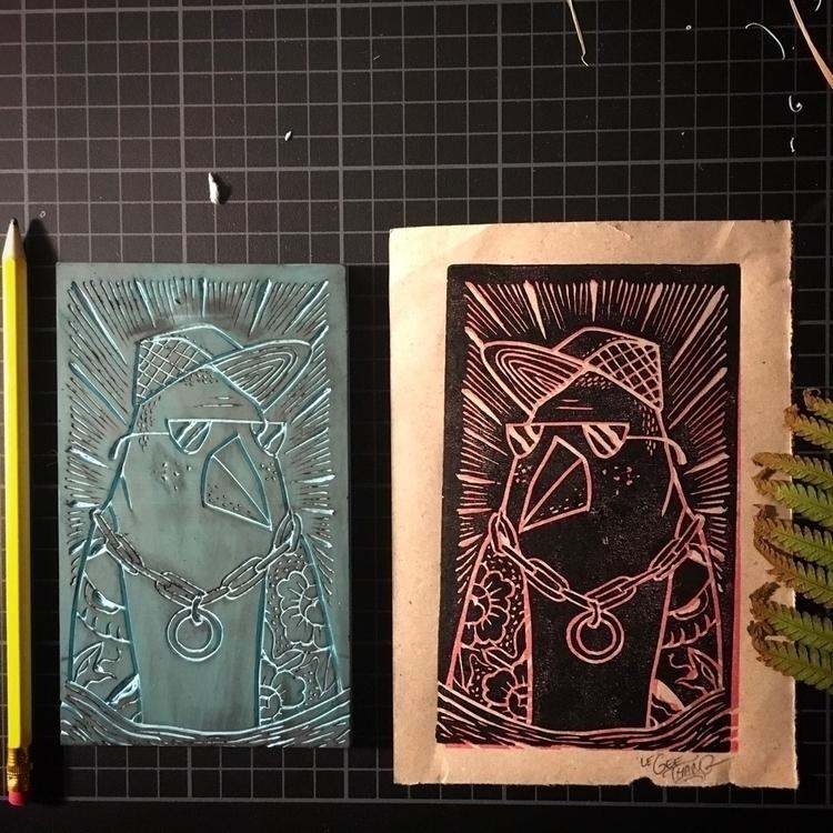 Le Geethang linoprint - linographie - geethang | ello