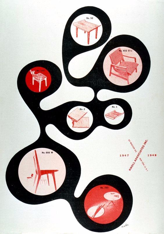 Herbert Matter Knoll ad, 1948.  - p-e-a-c | ello