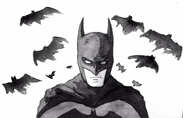awhile drew batman - art, ink, sketch - todrawtoday | ello