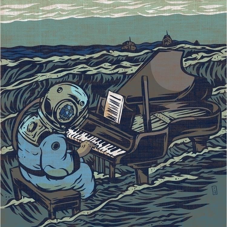Symphony Rising Tides - illustration - thomcat23 | ello