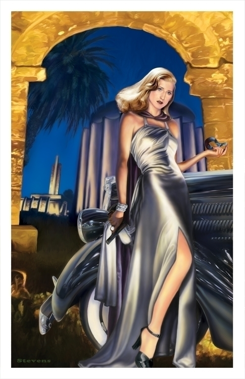 Domino Lady: digital painting h - tym_stevens   ello