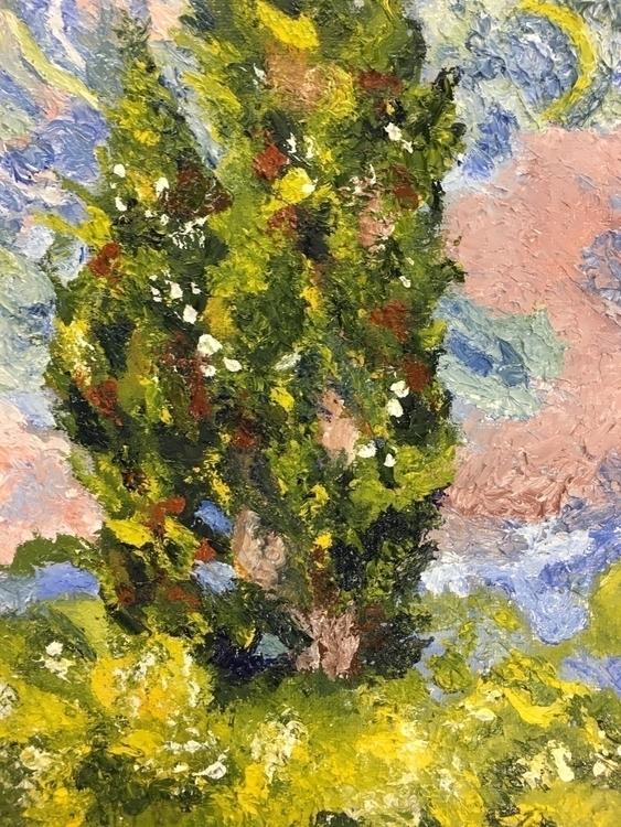 Cypresses (1889) (Vincent VanGo - missymel6 | ello