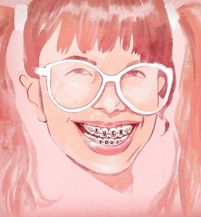 Smile - brace, illustration, graphic - marcomelgrati | ello