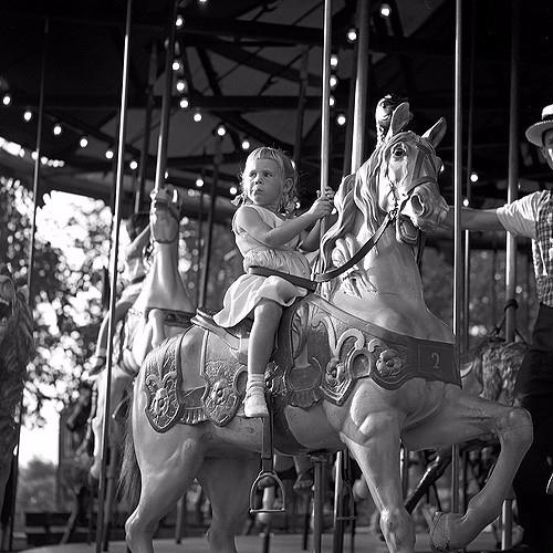 Girl carousel Berry Farm   Buen - nickdewolfphotoarchive   ello