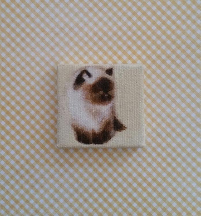 Miniature portrait 2x2 oil canv - nora_   ello