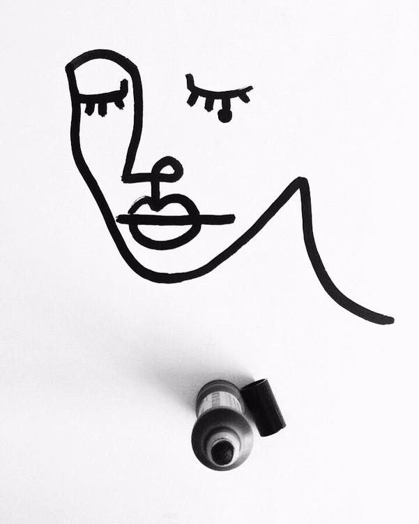 black🖤 - portrait, beauty, draw - ninhol | ello