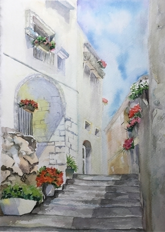 list - watercolour, painting, art - farfallablu   ello