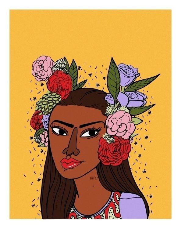Kerlea Joseph Flower Girl - blackartmatters | ello