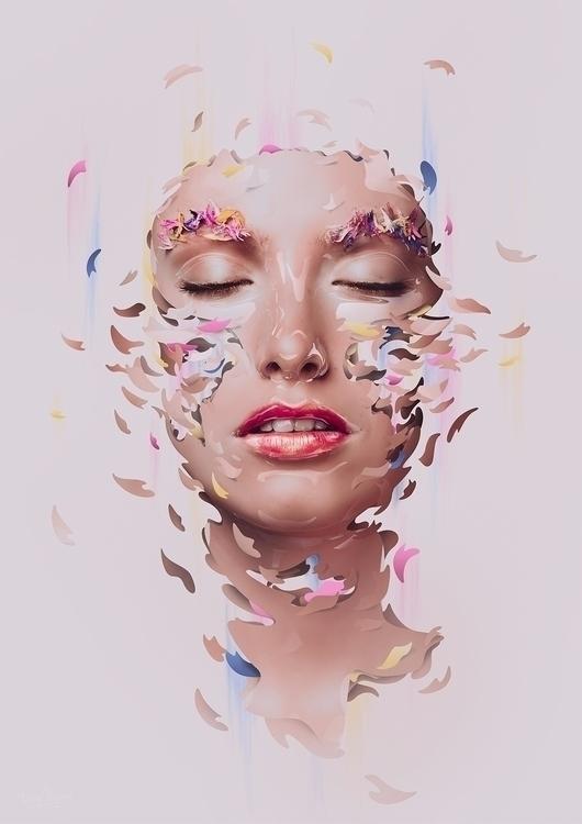 sweet - art, portrait, girl - dielm   ello