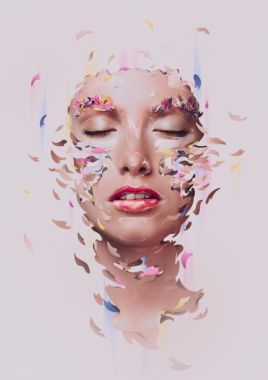 sweet - art, portrait, girl - dielm | ello