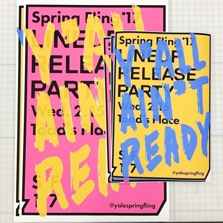 Posters Yale Spring Fling lineu - isaacmorrier | ello