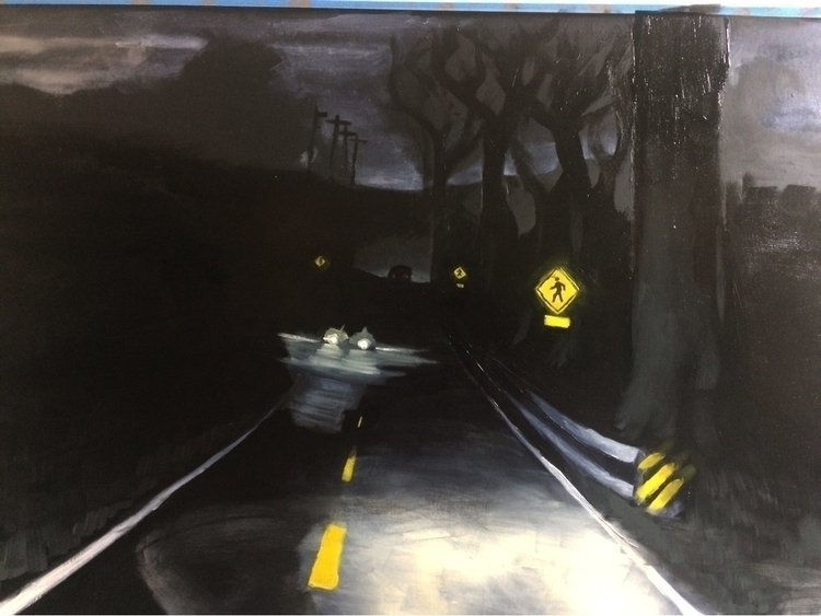 people feel, oil paper, 2017 - painting - mr_kevinohara | ello