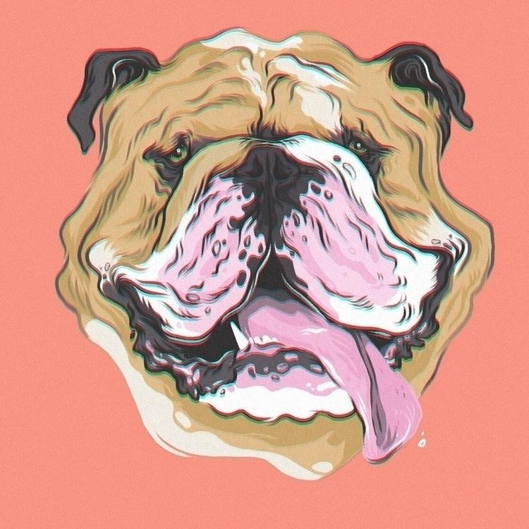 good boy  - illustration, drawing - dudeitsallama | ello