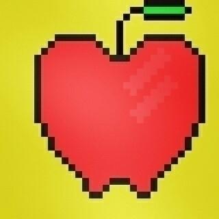 Pixelart Apple weird - weirdweird - idgafwtf   ello
