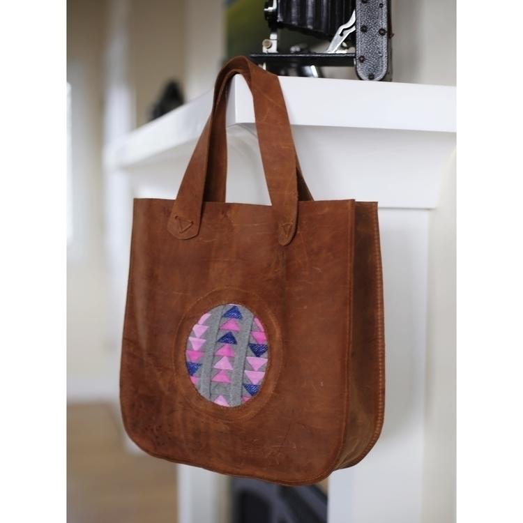 Leather + Wool Velvet - handmadebag - entropyalwayswins | ello