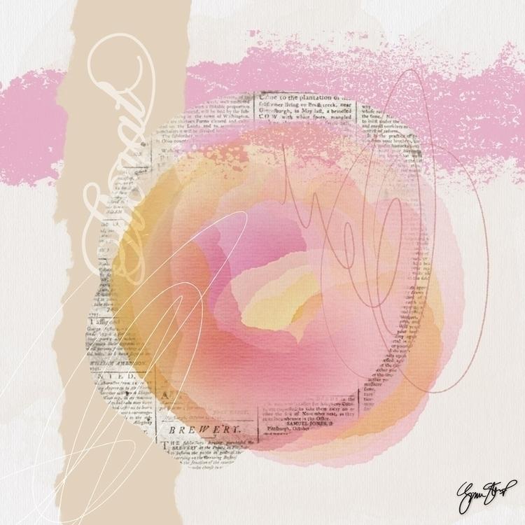 Center Rose - abstract, watercolors - ginastartup | ello